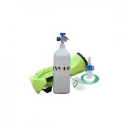 کپسول اکسیژن 2/5 لیتری همراه با مانومتر